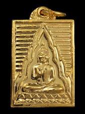 THAI AMULET BUDDHA LP SOD WAT PAKNAM BHASICHAROEN SERIE DUANG SOMPOB GOLD PLATED
