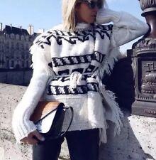 $820 Isabel Marant Etoile Runway Chunky Poncho Tunic Sweater Sz S 4-8