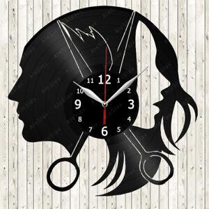 Hairdresser Vinyl Record Wall Clock Decor Handmade 1137