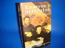 Libro ENSAYOS Y ARTICULOS de OSCAR WILDE