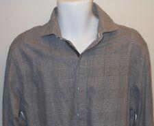 ENGLISH LAUNDRY BLACK/WHITE FINE PLAIDS CLASSY DRESS SHIRT. EL7207D4