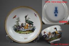 Meissen Vogel Insekte Malerei Tasse Lupenmalerei 1774-1814 Marcolini Zeit Nr.11