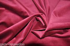 2. Wahl 6 m Samt  bordeaux rot 100% Baumwolle 150 cm DIN 4102 Bühnensamt Deko