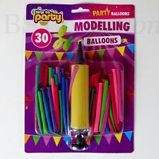 25X Magic Long Balloons + Pump Assorted Colour Twist Making Animals Latex Baloon