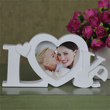 White Love Photo Frame Heart Shape With One Picture 4 by 4 inche  2015SW004