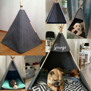 Pet Teepee Tent Indoor Luxury Handmade Personalized Foldable Dog Bed