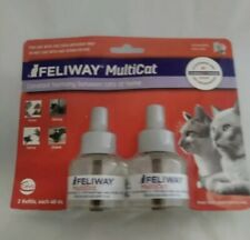 NEW  Feliway Multicat 2 Refills For Cats 2 Months! For  Ceva Diffuser