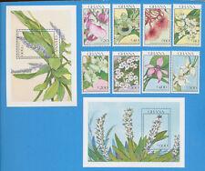 GHANA - scott 1229-1236 - Flowers - VFMNH 1990