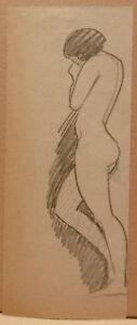 """Drawing Antique Charcoal Stone Subtle """" Etude De Naked """" Ps a To"""