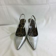 Dolce & Gabbana Metallic Leather Pointy Toe Slingback Heels