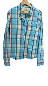 Hollister Men's Shirt Size L colourful Long Sleeve Button Up