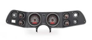 Dakota Digital 70-72 Chevy Camaro VHX Analog Gauges Carbon Red w/ Carrier