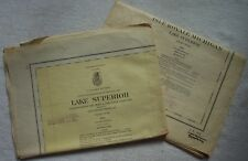 2 Vntg Large 1961 Lake Survey Nautical Charts #98 LAKE SUPERIOR #981 ISLE ROYAL