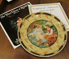 1984 Roses Are Red Once Upon A Rhyme 1st Issue Renee Faure Collector Plate