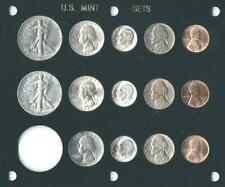 1947 P-D-S US Mint set-14 coins- Brilliant Uncirculated in Black Capital holder
