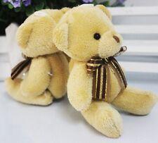 New Plush Scarf Brown Teddy Bear Stuffed Animal Soft Toys 12CM For Bouquet