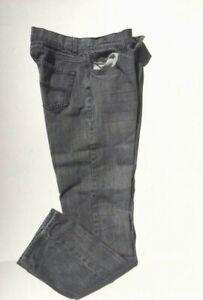 Arizona Boy's Youth Size 18 Skinny Light Black Denim Jeans Pant cotton Straight