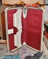 Belle Trousse Vintage Pour Joueur de Bridge - simili Cuir et tissu