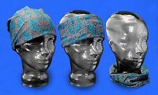 Australian Souvenir Scarf Aboriginal Art Design Unisex Headscarf - WT Turquoise