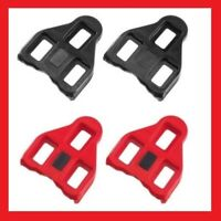 ROTO LOOK DELTA ROAD BIKE BICYCLE CYCLING COMPATIBLE PEDAL CLEATS - Black / Red