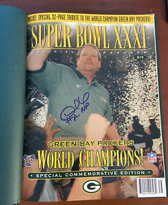 DESMOND HOWARD SUPER BOWL 31 XXXI HARD COVER PROGRAM AUTOGRAPHED SIGNED PACKERS