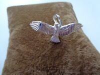 Jugendstil Adler Anhänger Handarbeit 925er Silber Symbol Schmuck - NEU