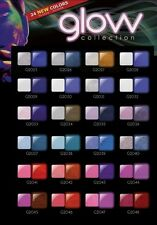 24 COLORS SET - NEW GLAM & GLITS GLOW IN THE DARK ACRYLIC POWDER  GL2025 -GL2048