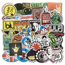 Lot of 100Pcs Car Punk Retro Metal Heavy Rock n Roll Vintage Music Band Stickers