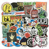Lot of 100Pcs Car Punk Retro Metal Heavy Rock n Roll Vintage Music Band Stickers