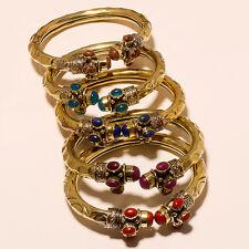 Very Nice Tibetan Silver Vintage Solid Brass Bracelet Cuff  C3