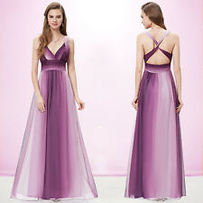 Ever Pretty Hot V-neck Long Formal Evening Party Dress Cocktail Prom Gown 09735