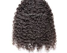 "Indian Human Virgin Hair, 2 Bundles 14"",Kinky Curly, 300g."