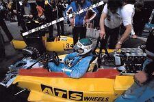 9x6 Photograph, Jean Pierre Jarier , ATS-Penske PC4 , 1977 Grand Prix Season