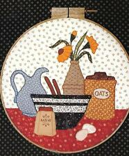 "The Pieceable Kingdom Oatmeal Cookie 14"" Hoop Applique Pattern Uncut Factory Fld"
