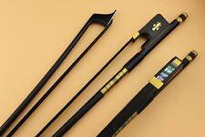 7pcs black Carbon fiber cello bow 4/4,cello accessories.Black horse Hair