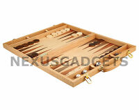Chio Backgammon X LARGE 18 Inch Game Set, Inlaid Wood Suitcase Board Pieces, New
