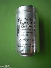 Kondensator Anlaufkondensator Ducati 416.25.5392 8uF 8µF AEG Electrolux Zanussi