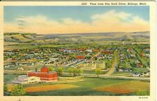 Billings, MT  A 1940 view from Rim Rock