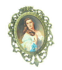 Antique Victorian Frame Italy Brass 3.75x5.25 Oval