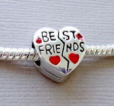 One Charm Bead Heart BEST FRIEND Fit for European style Bracelet C47