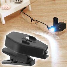 Portable Clip On Eye Glasses Light Magnifier Reading LED Magnifying Glass Gift