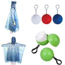 Disposable Emergency Waterproof Keyring Ball Rain Coat Poncho Rainwear Ra.AU