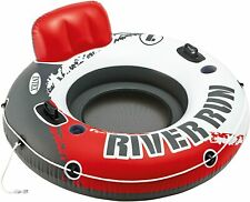 """Intex River Run 1 Inflatable Floating Tube lounge Raft for Lake/Pool 53"""" Red New"""