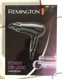 Remington D3010 Power Dry 2000 Hair Dryer - 2000W Ceramic Ionic Grille
