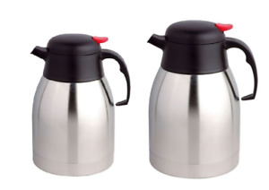 Stainless Steel Thermos Flask Insulated Vacuum Jug For Tea Coffee 1.5 & 2 Litre