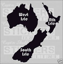 3 ISLANDS OF NZ DECAL 105x115mm Capt'n Skullys Stickers Online MPN 1137 M/PURPOS