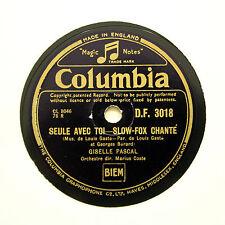 "GISELLE PASCAL ""Seule Avec Toi / Un Oiseau Chante"" (E+) COLUMBIA DF-3018 [78]"