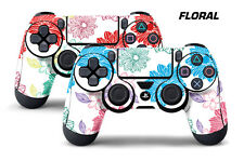 Dual Skin Sticker Wraps 2 Pack PS4 Playstation 4 Remote Controller Decals FLORAL