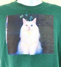 Fashion Women//Mens cute cat blue eyes eating tacos pizza 3D Print T-Shirt GQW1