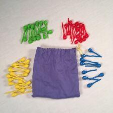 "Cranium ""Balloon Lagoon"" Game Replacement Parts ~ Balloon Pegs in Bag"